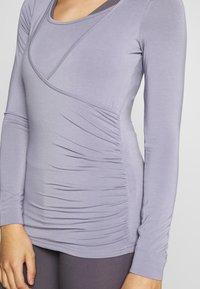 Curare Yogawear - Top sdlouhým rukávem - pearl grey - 4