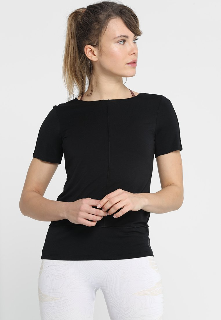 Curare Yogawear - KURZARM BIESEN - T-shirts basic - black