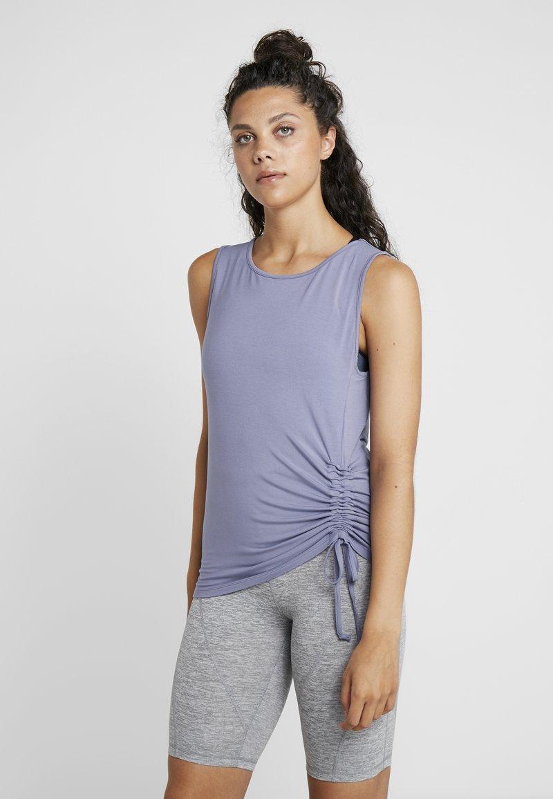 Curare Yogawear - TANK  - Topper - french blue