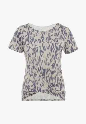 TWISTED - T-shirt med print - sand