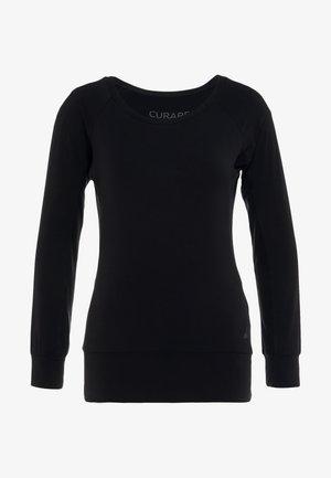 BOAT NECK - Long sleeved top - black