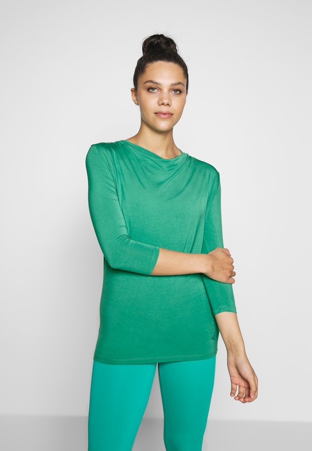 WATERFALL 3/4 SLEEVES - Long sleeved top - green lagoon