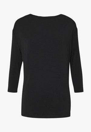 WATERFALL 3/4 SLEEVES - Long sleeved top - black
