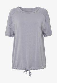Curare Yogawear - DRAWSTRING WIDE  - Topper - pearl grey - 3