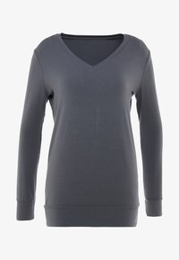 Curare Yogawear - NEW V NECK  - Longsleeve - anthracite grey - 4