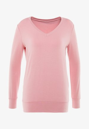 NEW V NECK  - Long sleeved top - coral pink
