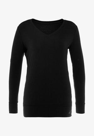 NEW V NECK  - Top sdlouhým rukávem - black