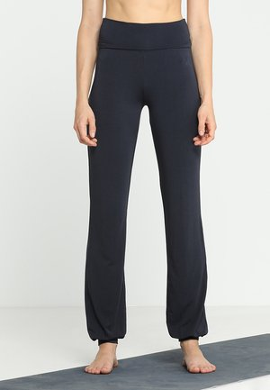 LONG PANTS ROLL DOWN - Träningsbyxor - midnight/blue