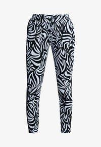 Curare Yogawear - PANTS GALON STRIPE - Tracksuit bottoms - grafik blue/midnight blue - 3