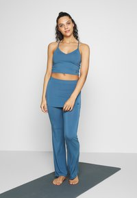 Curare Yogawear - PANTS SKIRT - Tracksuit bottoms - horizon blue - 1