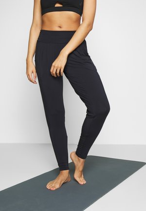 PANTS LONG LOOSE ROLL DOWN - Tracksuit bottoms - midnight blue