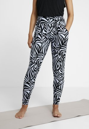 PANTS LONG LOOSE ROLL DOWN - Pantaloni sportivi - grafik blue
