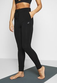 Curare Yogawear - LONG PANTS - Tracksuit bottoms - black - 0