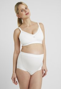 Cache Coeur - MAXI BRIEF OVER BELLY - Kalhotky - ivory - 1