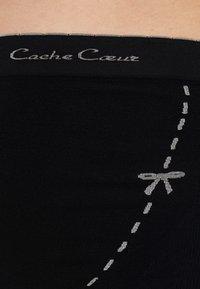 Cache Coeur - MAXI BRIEF OVER BELLY - Slip - black - 4