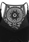 Cache Coeur - MATERNITY TANKINI WITH FIXED PADS SET - Bikinit - black