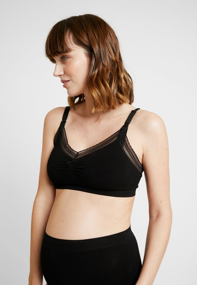 MILK MATERNITY & NURSING SEAMLESS BRA - T-shirt-bh'er - black