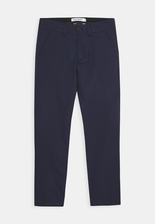 KLAUS PANTS - Kangashousut - dark blue