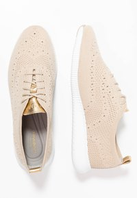 Cole Haan - ZEROGRAND STITCHLITE OXFORD - Sneakers - rye/optic white - 3