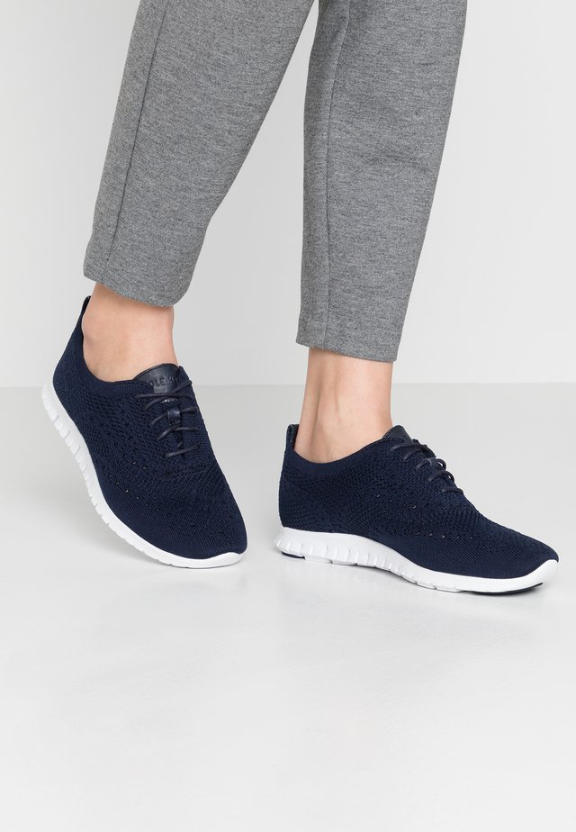 ZEROGRAND STITCHLITE OXFORD - Trainers - marine blue/optic white
