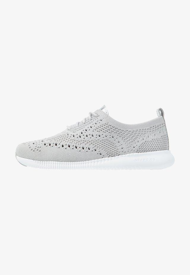 ZEROGRAND STITCHLITEOXFORD - Sznurowane obuwie sportowe - argento/glacier grey/optic white
