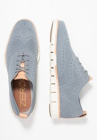 Cole Haan - ZEROGRAND STITCHLITE OXFORD - Casual lace-ups - ironstone /ivory - 1