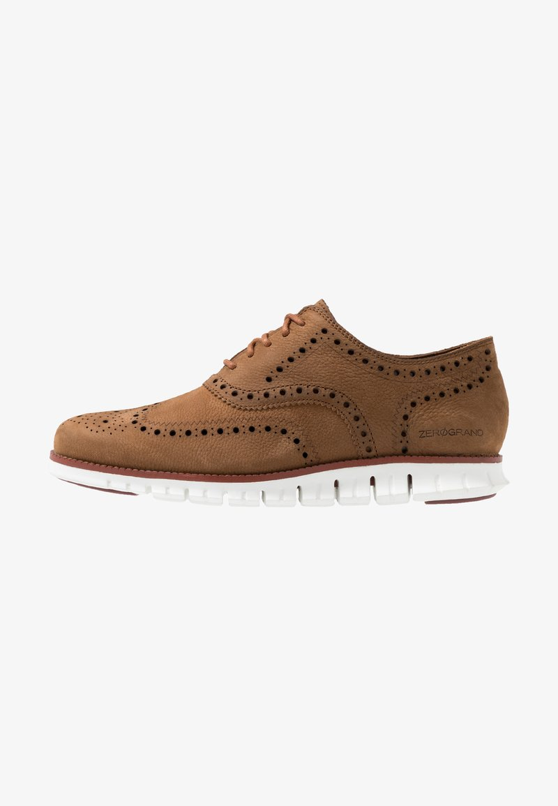 Cole Haan - ZEROGRAND WINGTIP OXFORD - Sportlicher Schnürer - dogwood tumbled/reef waters/optic white