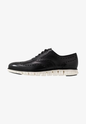 ZEROGRAND WINGTIP OXFORD - Lace-ups - black/white