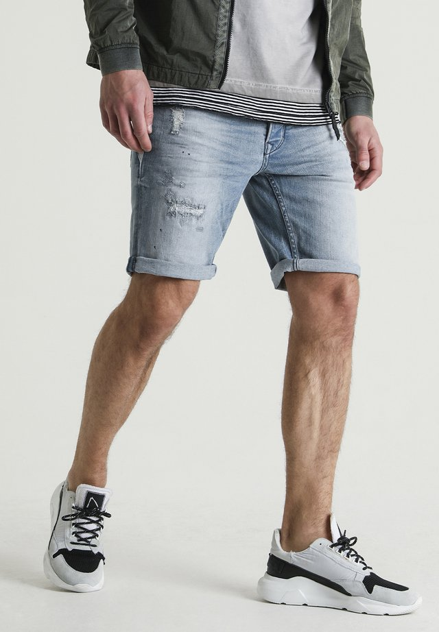 EGO.S NANTES - Denim shorts - blue