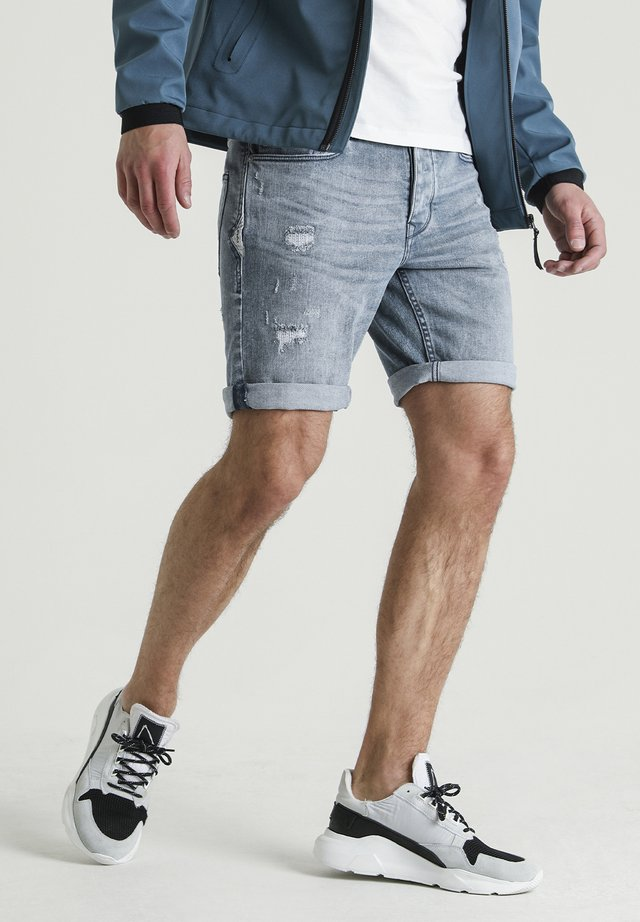 ROSS.S NORFOLK - Denim shorts - blue