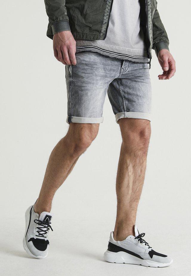EGO.S MARTEL - Denim shorts - grey