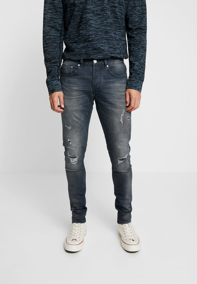 EGO AGAR - Jeans Slim Fit - dark blue denim