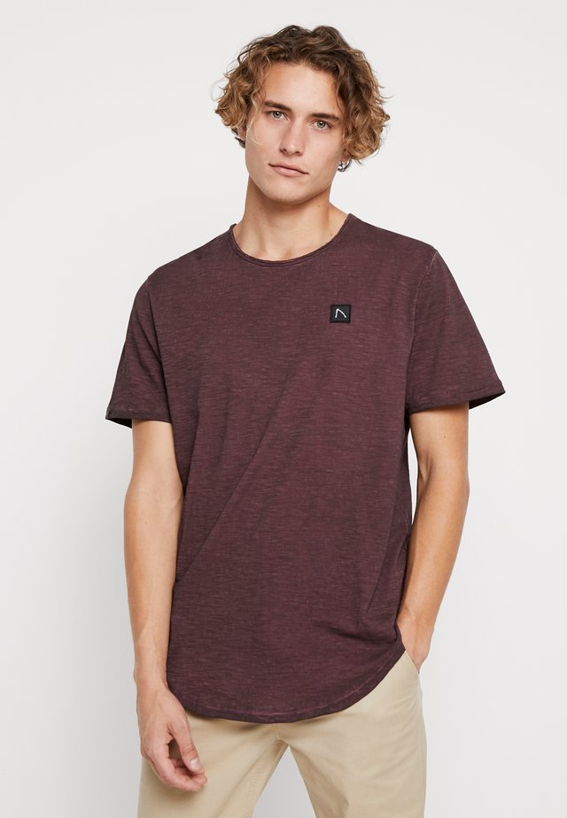 DEANEFIELD - T-Shirt basic - burgundy