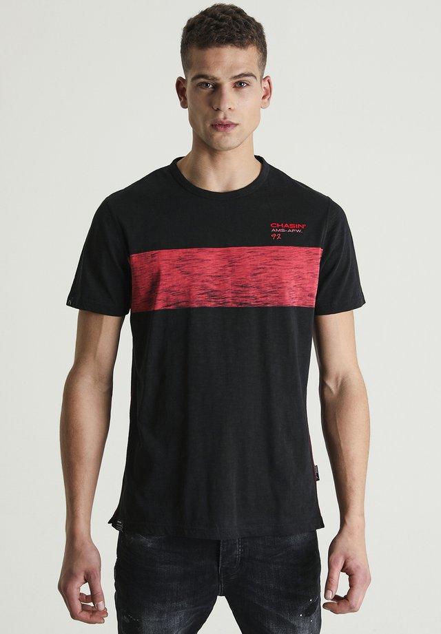 JEREMY - Print T-shirt - black
