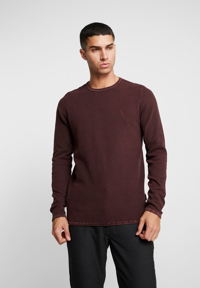 BASAL - Strickpullover - burgundy