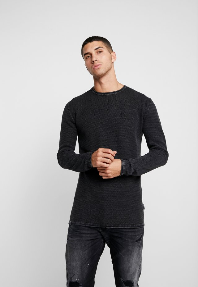 BASAL - Strickpullover - black