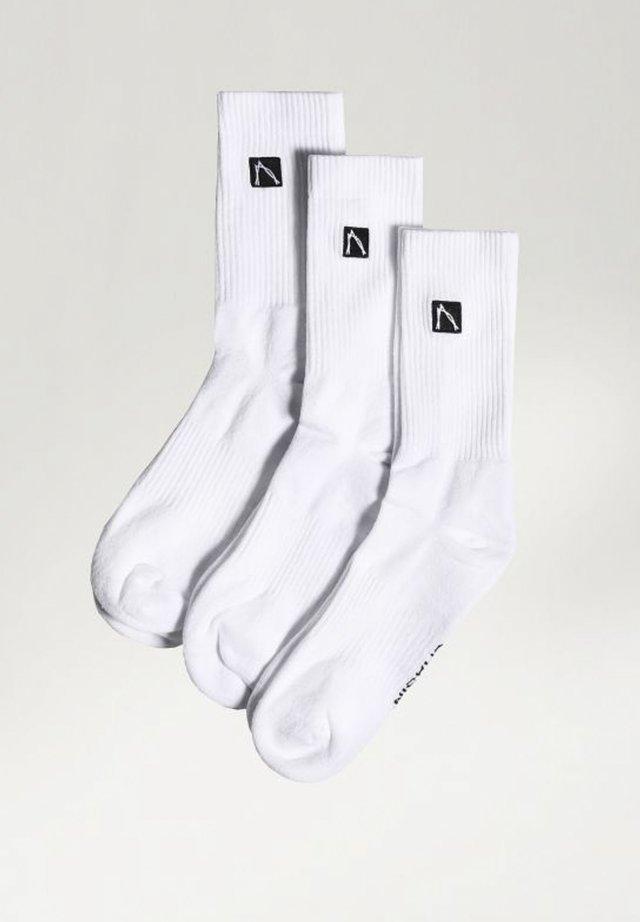 SPORTS BOX LOGO - Socks - white