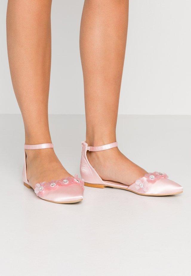 CINDY - Ankle strap ballet pumps - blush