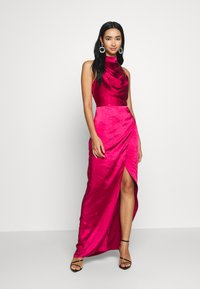 Chi Chi London - CHRYSTA DRESS - Galajurk - burgundy - 0