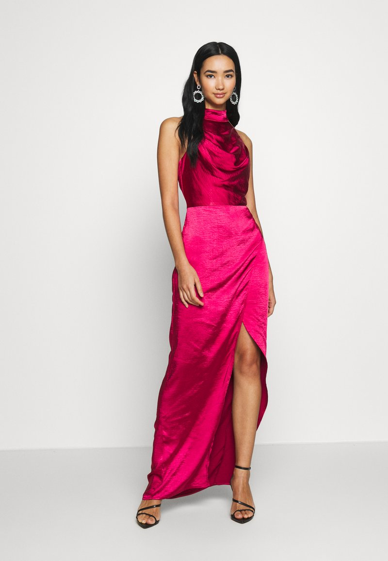 Chi Chi London - CHRYSTA DRESS - Galajurk - burgundy