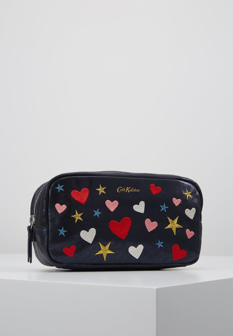 Cath Kidston - EMBROIDERED BOX COSMETIC BAG - Kosmetiktasche - navy