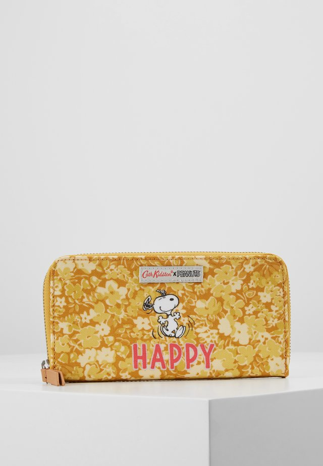 SNOOPY CONTINENTAL PLACEMENT ZIP WALLET - Geldbörse - egg yolk