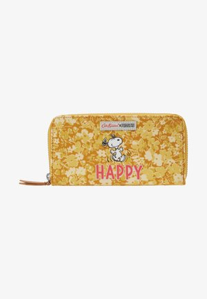 SNOOPY CONTINENTAL PLACEMENT ZIP WALLET - Plånbok - egg yolk