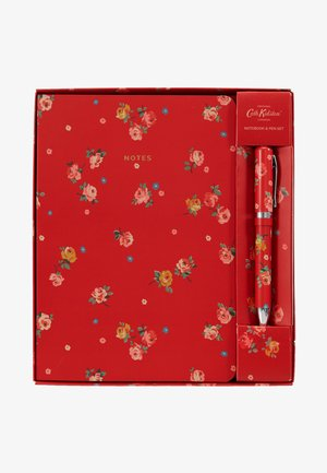 NOTEBOOK AND PEN SET - Accessorio - red