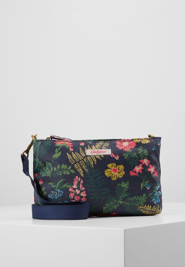 SMALL ZIPPED CROSSBODY - Across body bag - navy