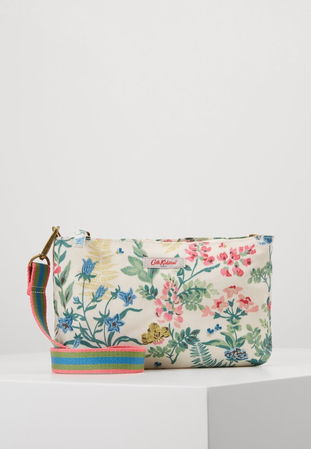 SMALL ZIPPED CROSSBODY - Across body bag - warm cream