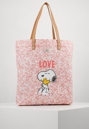 SNOOPY SIMPLE SHOPPER - Shopping Bag - washed pink