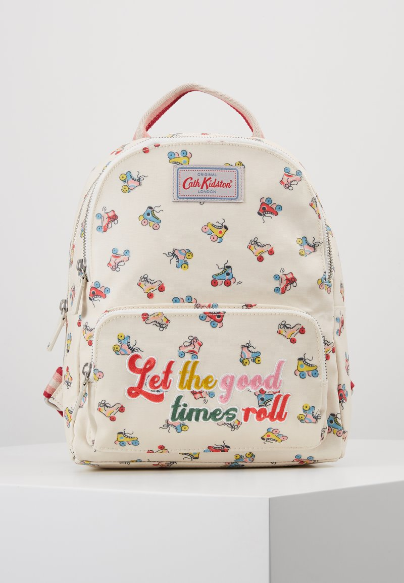 Cath Kidston - ROLLER SKATES SMALL POCKET BACKPACK - Ryggsekk - warm cream