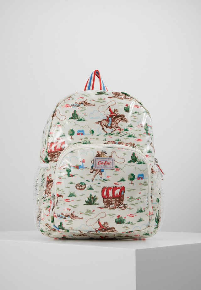 KIDS CLASSIC LARGE WITH POCKET - Tagesrucksack - off white/brown