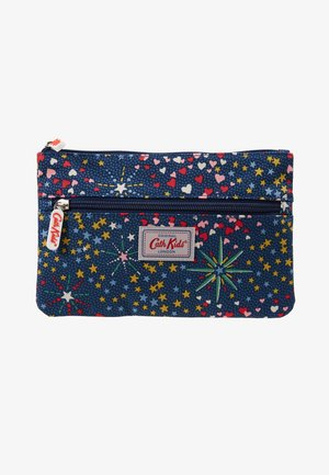 KIDS DOUBLE ZIP PENCIL CASE - Astuccio - navy